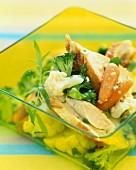 Chicken,cabbage and tarragon salad