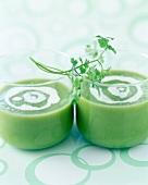 Cream of broccoli and chervil soup