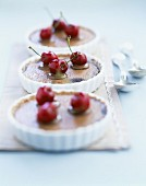 Chocolate and cherry tartlets
