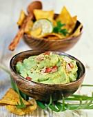 Guacamole with tuna