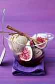Figs with cinnamon ice cream