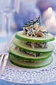 Green apple and crab Mille-feuille