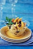 Quinoa, chicken, olive and confit citrus salad