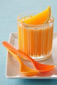 Orange yoghurt