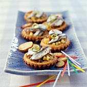 Anchovy,potato and lime mini quiches