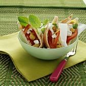 Oriental-style open sandwiches