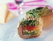 Bread and green bean terrine