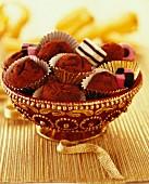 Licorice and chocolate truffles