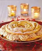 Christmas chestnut-flavored Paris-Brest