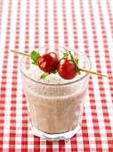Cherry plum tomato smoothie