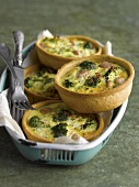 Broccoli and tuna mini quiches