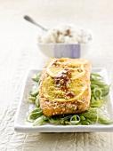 Salmon marinated in lemon,ginger and Mirin