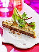 Sesame seed savoury cheesecake