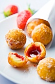 Strawberry jam fritters