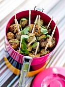 Beef and coriander meatballs