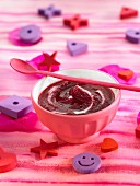 Cream of beetroot with miso and thyme