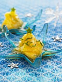 Pineapple Carpaccio with lime