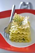 Cold zucchini lasagnes