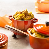 Small casserole dish of spicy pork Colombo