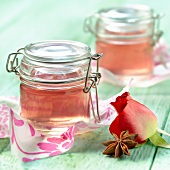 Rose and star anise-flavored jelly