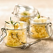 Risotto with parmesan and rosemary