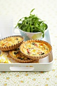 Smoked ham and spinach quiche