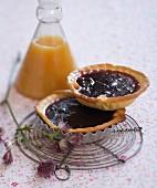 Quetsche plum jam tartlet