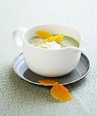 Cold cream of broccoli soup