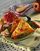 Summer fruit filo pastry pies