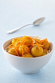 Spicy mirabelle plum fruit salad