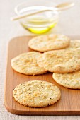 Parmesan and pepper shortbread savoury biscuits