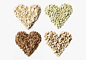 Four cereal hearts