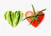 Tomato and lettuce hearts