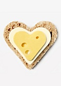 Bread,butter and cheese heart