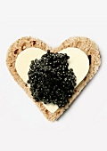 Bread,butter and caviar heart