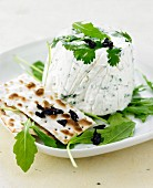 Goat's cheese mousse with salad