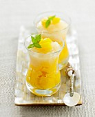 Peach and sweet white wine fruit sald