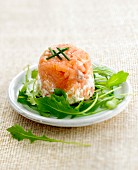 Salmon Tartare and goat's cheese