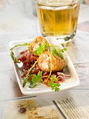 Serrano ham and chicken croquettes
