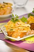 Omelette à la catalane open sandwich