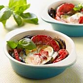 Zucchini,tomato,eggplant and mozzarella Tian