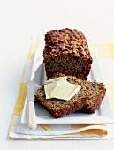 Herb and walnut cake