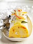 Mango ice cream log cake
