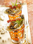 Oysters in aspic with grilled bacon