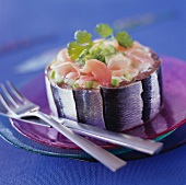 Individual sardine savoury cake