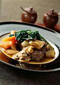Sukiyaki-style caramelized beef hotpot