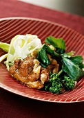 Chicken with onion sauce