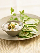 Cucumber salad with Ravigotte sauce