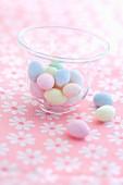 Small sugar easter eggs