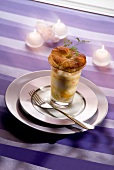 Earth and seafood Verrine with mandarin butter